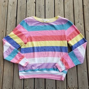 Wildfox striped long sleeve pullover sweater